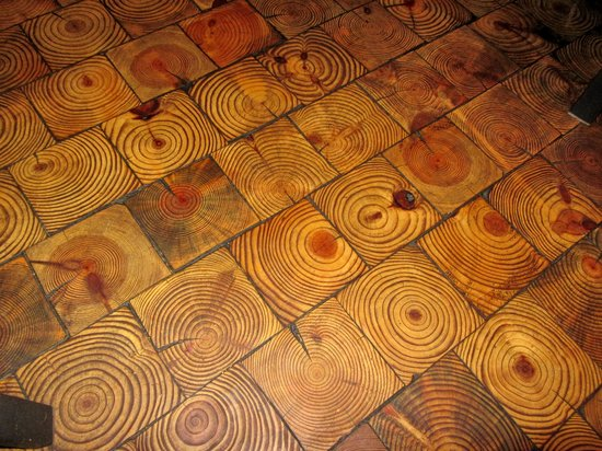 The Square Root: Wood Tiled Floor