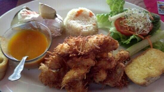 Restaurant La Glorieta de Enrique: jumbo coconut shrimp