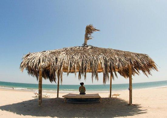 Vichayito Bungalows & Carpas by Aranwa: Palapas en la playa.