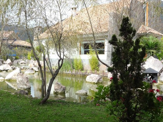 Aranwa Sacred Valley Hotel & Wellness: the view from our room-- the enitre wall was glass