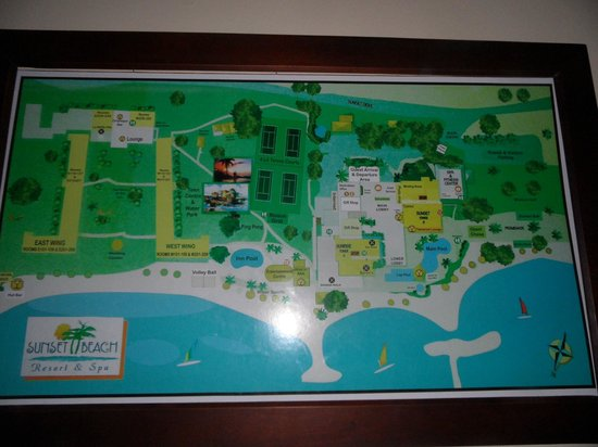 Map Of The Hotel Grounds Picture Of Sunscape Splash Montego Bay - Sunset beach resort jamaica map