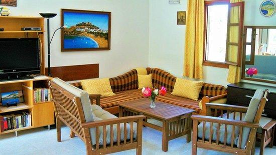 Villa Galini Lindos: Dining room