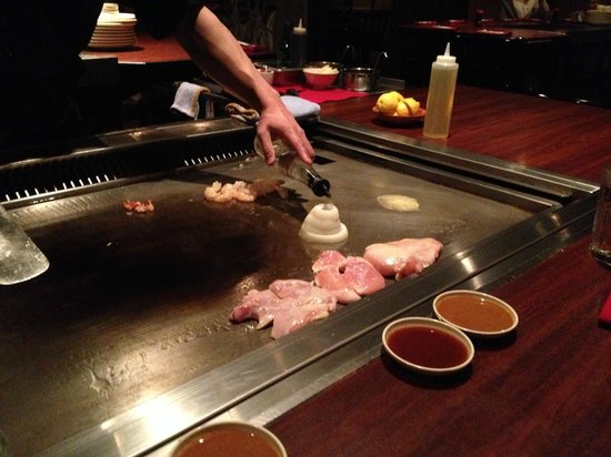 Hibachi Grill Built Into The Table Picture Of Nakashimas Japan - Table with grill built in