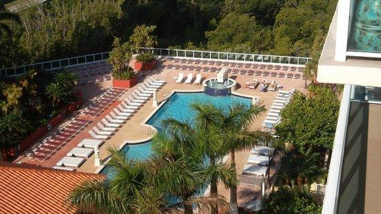 Residences at Intracoastal Yacht Club : vue de la chabre sur la piscine