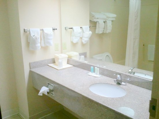 Comfort Suites: Clean and good sized bathroom