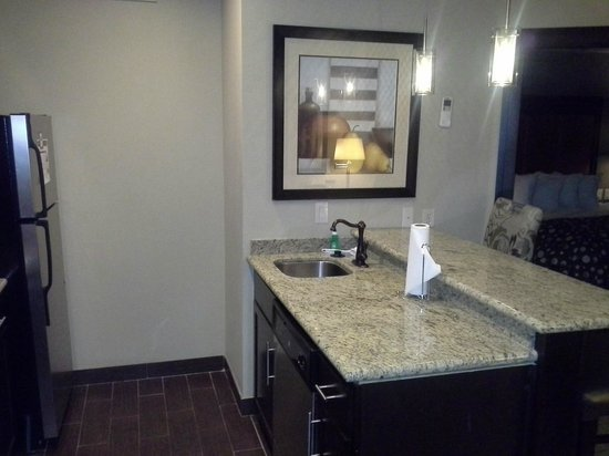 StayBridge Suites DFW Airport North: Modern bathroom w/ cool faucet