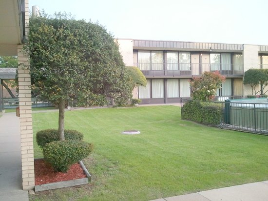 Quality Inn: Interior grounds area
