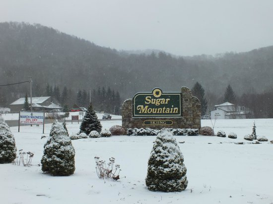 Sugar Mountain Resort: The main entrance