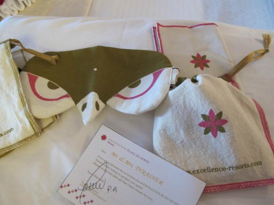 Excellence Playa Mujeres: Return guest gifts