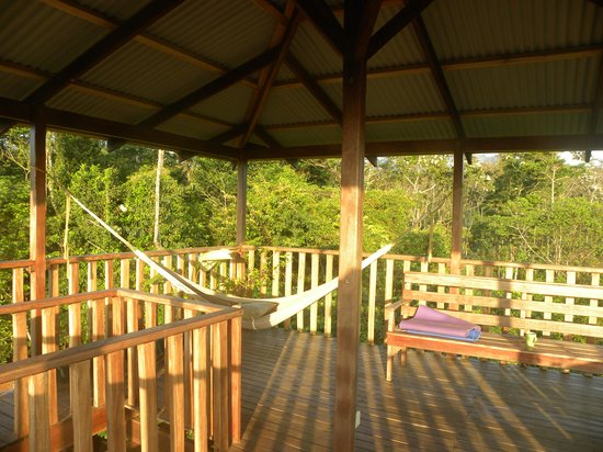 Finca Luna Nueva Lodge: Lookout tower perfect for morning yoga