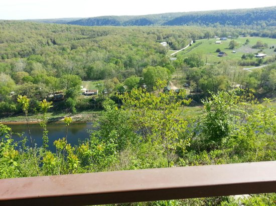 The White River Inn: View off the deck