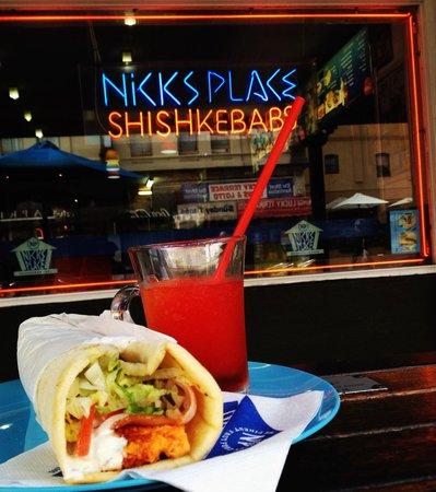 Nick's Place: Greek Vegetarian, Capsicum feta omelette