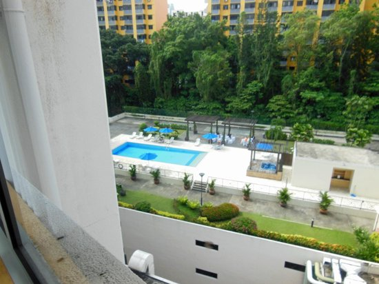 Hotel Miramar: Pool from window