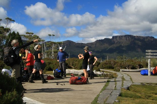 Cradle Mountain Huts: Preparing to ascend Mt Ossa