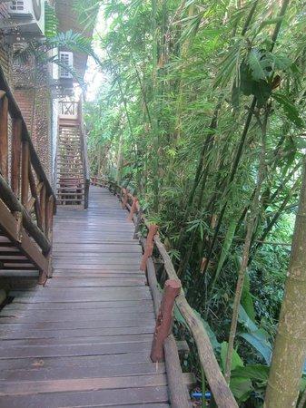 Somkiet Buri Resort: Walkway to some of the rooms