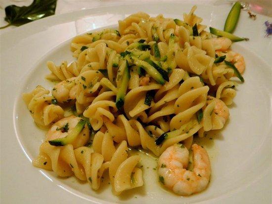 Albergo Ristorante Belvedere : Fusilone Shrimp & Zucchini