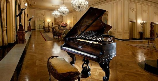 The Westgate Hotel: Lobby of The Westage Hotel with gorgeous antique Steinway.
