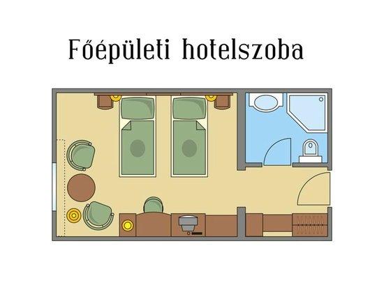 Gereby Kuria Hotel: Floor map main building