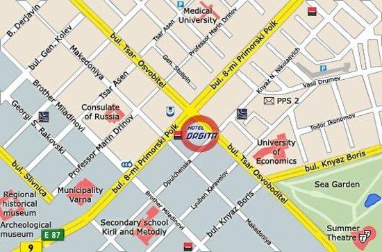 Orbita Hotel: map
