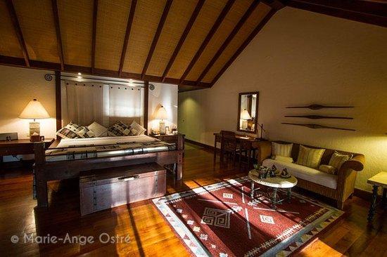 The Oberoi, Lombok: Intérieur chambre avec coin salon