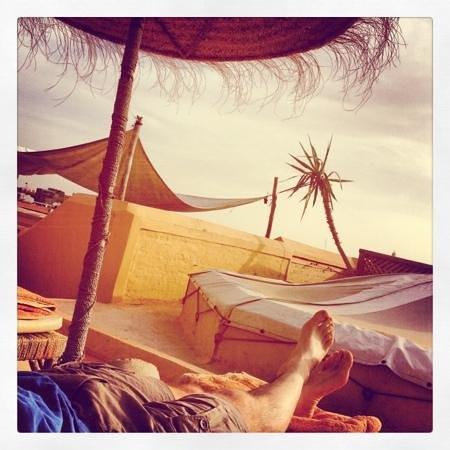 Dar Hanane: siesta on the roof terrace