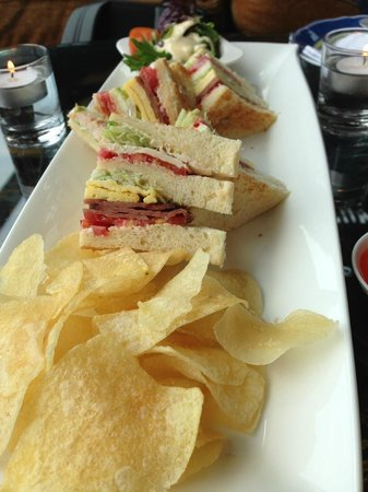 Hotel Mulia Senayan: Sandwich at the Cascade Lounge