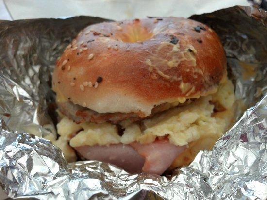 Tuckaway Bagel & Waffle Cafe : The Meatwich