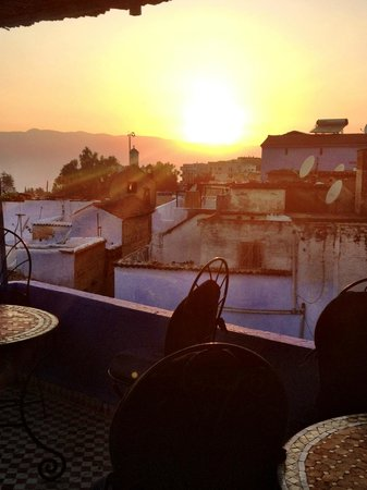 Hostel Souika: The sunset from the rooftop terrace