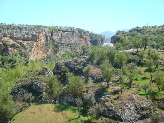 Hotel La Seguiriya: The gorge from the terrace.