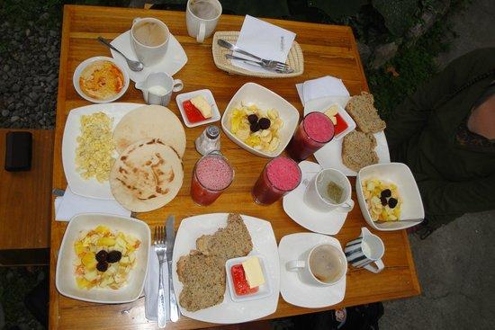 Cafetcetera : verschiedene Frühstücke