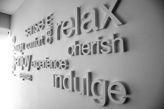 Spa 1: Our motto on the wall!