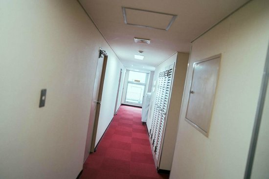 Hotel Yanagibashi: the small corridoor of our hotel - level 6