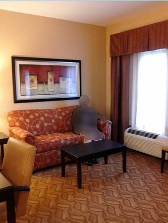 Hampton Inn & Suites Laurel : Living room with settee