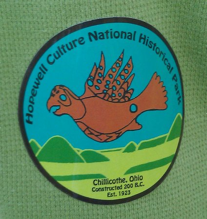 Hopewell Culture National Historical Park: A sticker given out to the kids