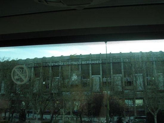 Novotel Madrid Puente de la Paz: Sadly a place where our coach didn't stop!