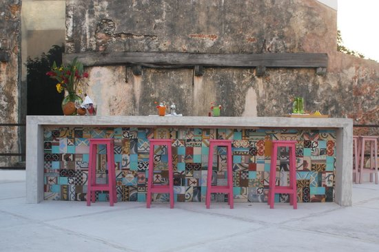 Kinchil, Mexico: Terrace Bar