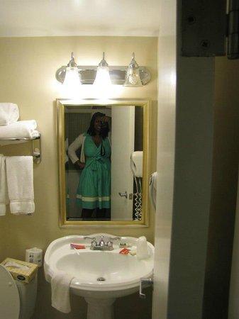Washington Suites Alexandria : Bathroom was small, but clean