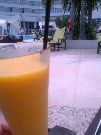 ME Cancun: Mango daiquiri, yum!