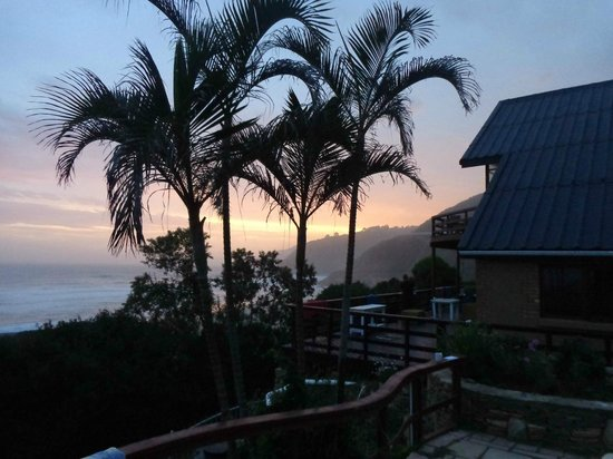 Wilderness Beach house: sunset from the terrace