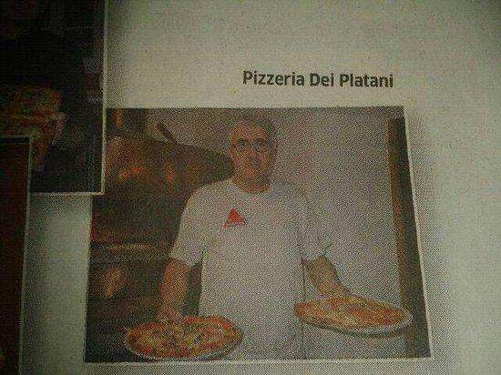 Trattoria Pizzeria dei Platani: Articolo sulla Provincia