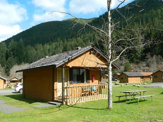 Sol Duc Hot Springs Resort: our two-Queen bed cabin (no kitchen)