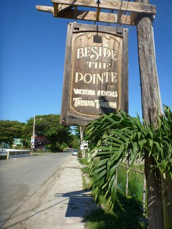 Beside The Pointe Inn: sign