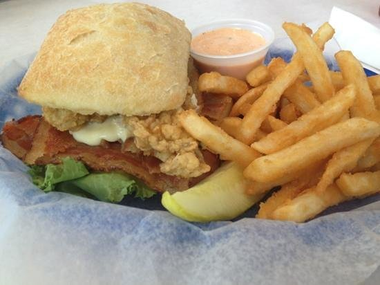 Barnhill's Seafood Spot: Oyster BLT