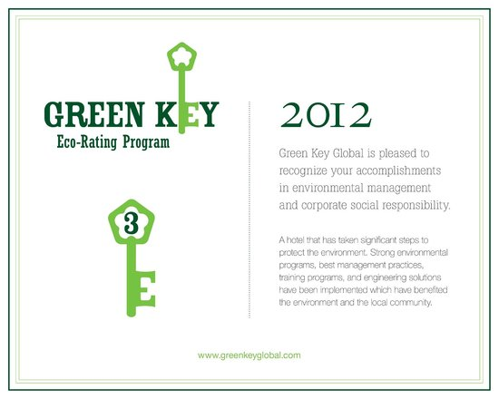 Capital Suites Yellowknife: Green key certificate