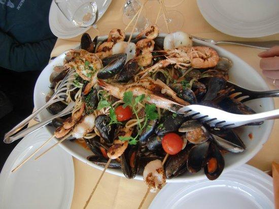 Ristorante Magnolia: Spaghetti with seafood