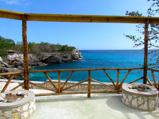 Citronella : View from new restaurant to the Caves and the open sea.