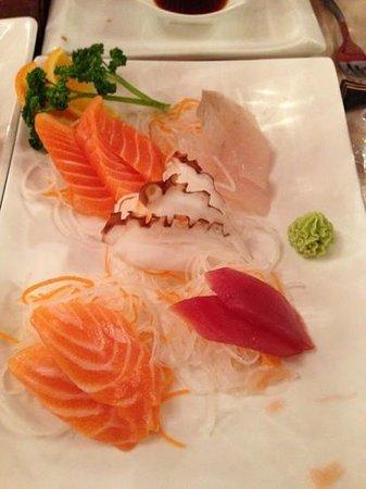 Japanhao: assortiment sashimis
