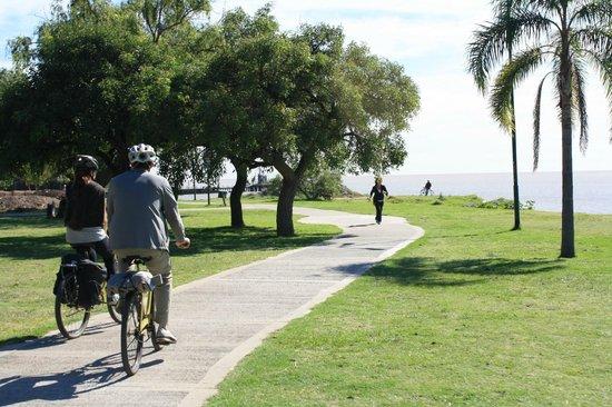 bike it: Part of trip on biking/walking path