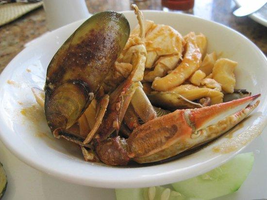 Hotel Riu Emerald Bay: sea food for lunch :)