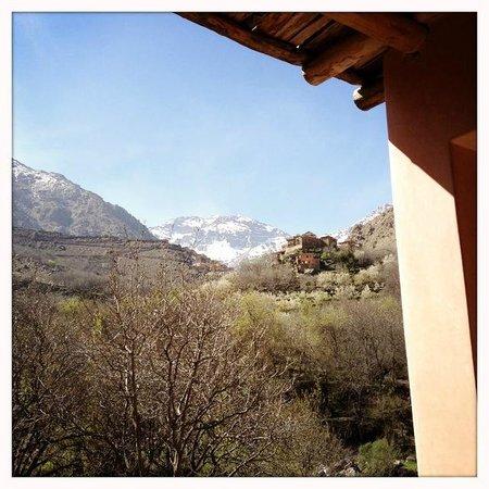Dar Imlil: View from top floor bedroom on the Kasbah du Toubkal